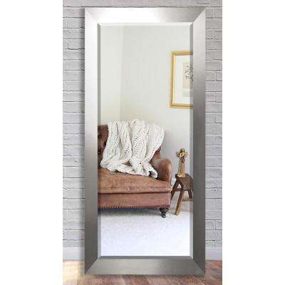 30.5 in. x 71 in. Silver Wide Beveled Oversized Full Body Mirror