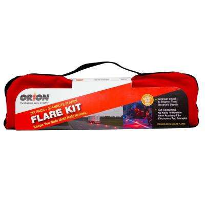 30 Minute Emergency Flare Kit (6-Pack)