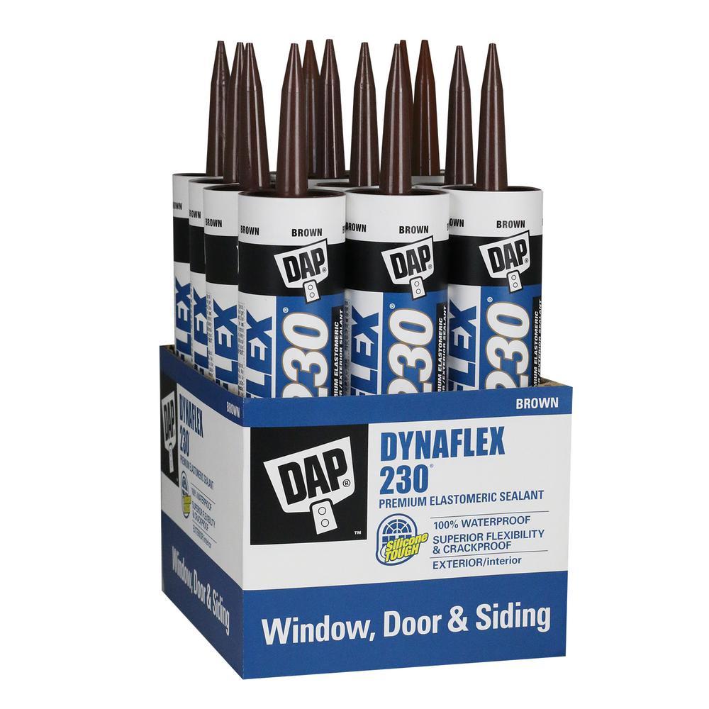 Dynaflex 230 10.1 oz. Brown Premium Indoor/Outdoor Sealant (12-Pack)