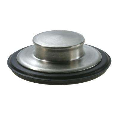 Sink Stopper in Brushed Stainless Steel for InSinkErator Garbage Disposals