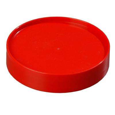 Replacement Lid Only for Stor 'N Pour Pouring System, Fits All Sized Containers in Red (Case of 12)