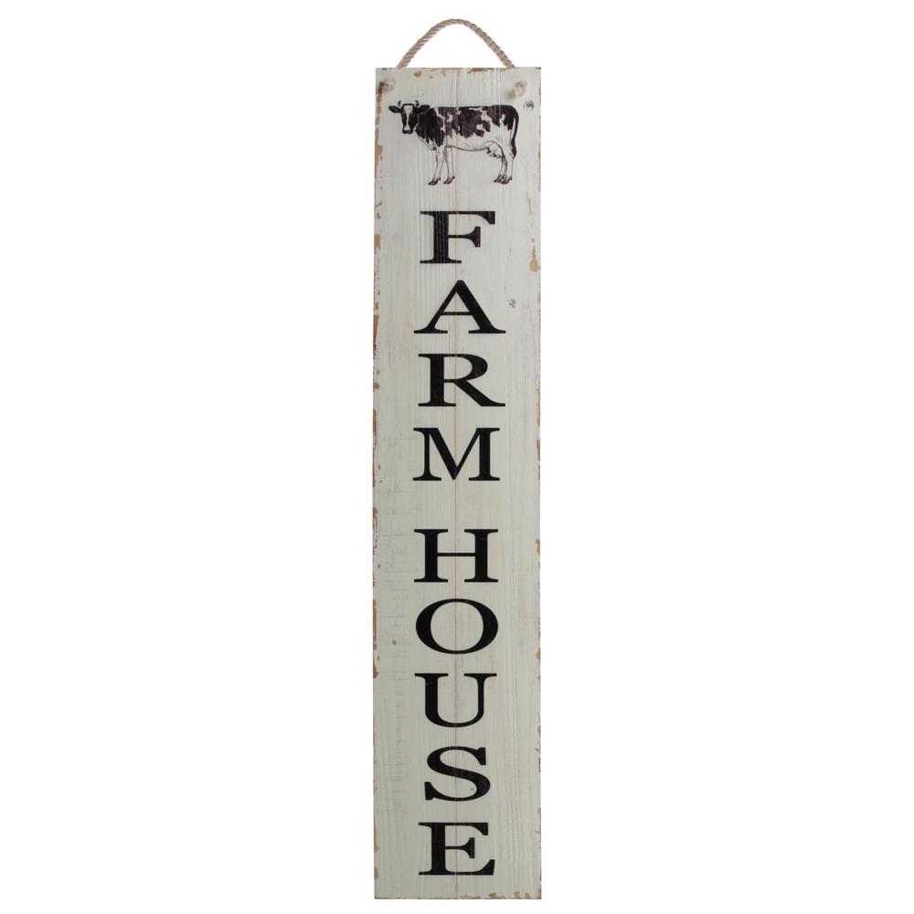 "39.50 in. x 9 in. ""Farmhouse"" Printed Wall Art"