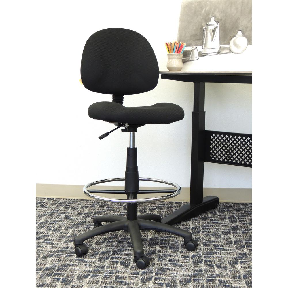 Tremendous Details About Boss Drafting Stool Armless With Chrome Foot Ring Black Brand New Dailytribune Chair Design For Home Dailytribuneorg