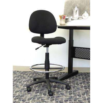 Black Armless Drafting Stool