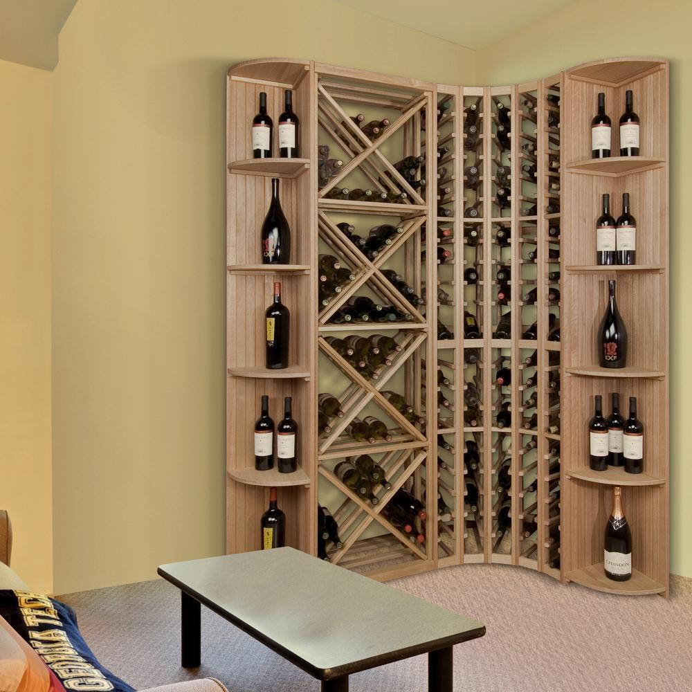 105-Bottle Pine Floor Wine Rack