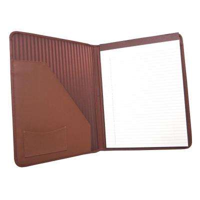Genuine Leather Executive Writing Portfolio Organizer, Tan