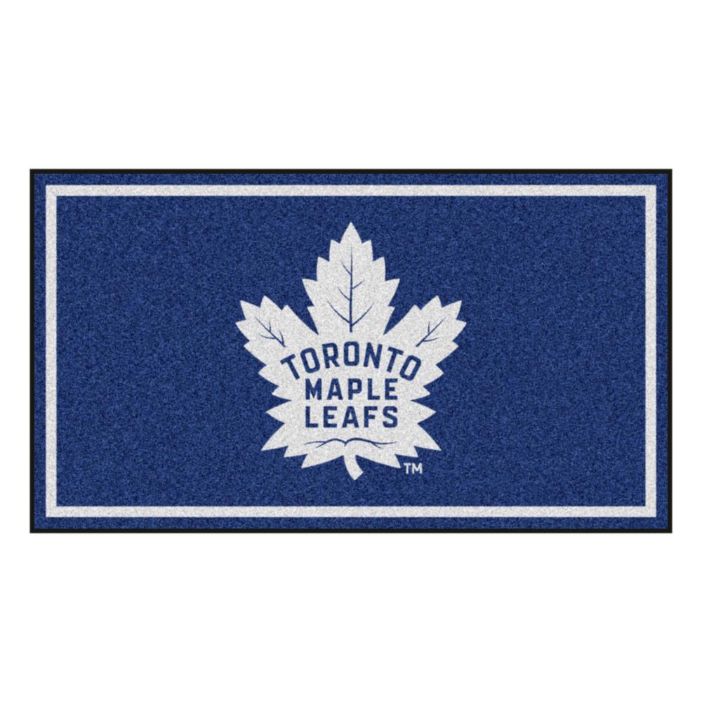 FANMATS NHL Toronto Maple Leafs Nylon Face Hockey Puck Rug