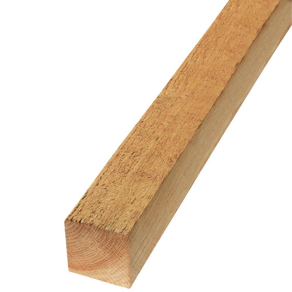 4 In X 4 In X 8 Ft Rough Green Western Red Cedar Lumber