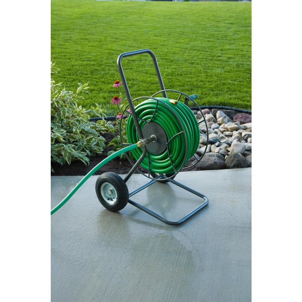 yard butler hose reel yard butler 2 wheeled hose reel cart 14025530 the home depot 1682