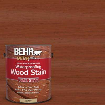 1 gal. #ST-142 Cappuccino Semi-Transparent Waterproofing Exterior Wood Stain