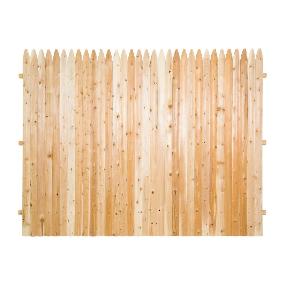 6 ft x 8 ft premium cedar solid top fence panel with. Black Bedroom Furniture Sets. Home Design Ideas