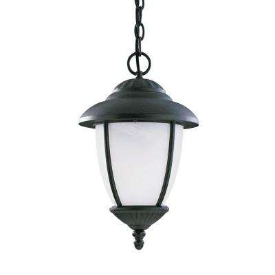Yorktown Forged Iron 1-Light Outdoor Hanging Pendant with LED Bulb