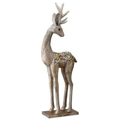 National Tree Company 20 In Standing Deer Looking Back Rac Jy0219s 1 The Home Depot