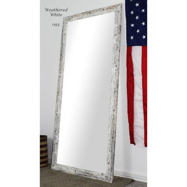 Large White Composite Rustic Mirror (59.5 in. H X 20.5 in. W)