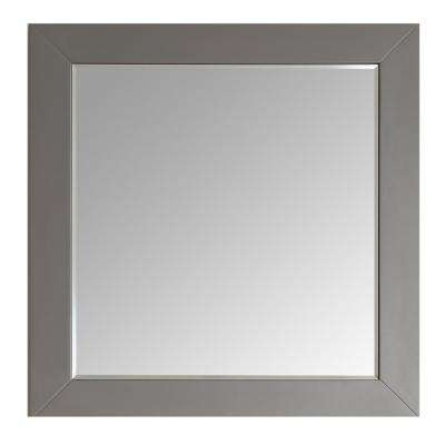 Aberdeen 36 in. W x 30 in. H Framed Wall Mounted Vanity Bathroom Mirror in Grey