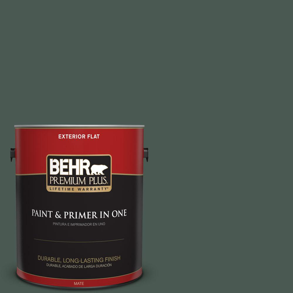 1-gal. #S420-7 Secluded Woods Flat Exterior Paint