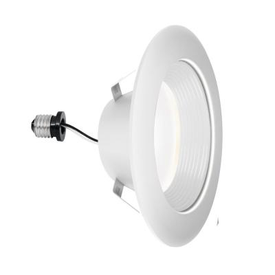 4 in. Selectable Deep Baffle Integrated LED Recessed Retrofit White Trim Downlight ENERGY STAR Dimmable (4-Pack)