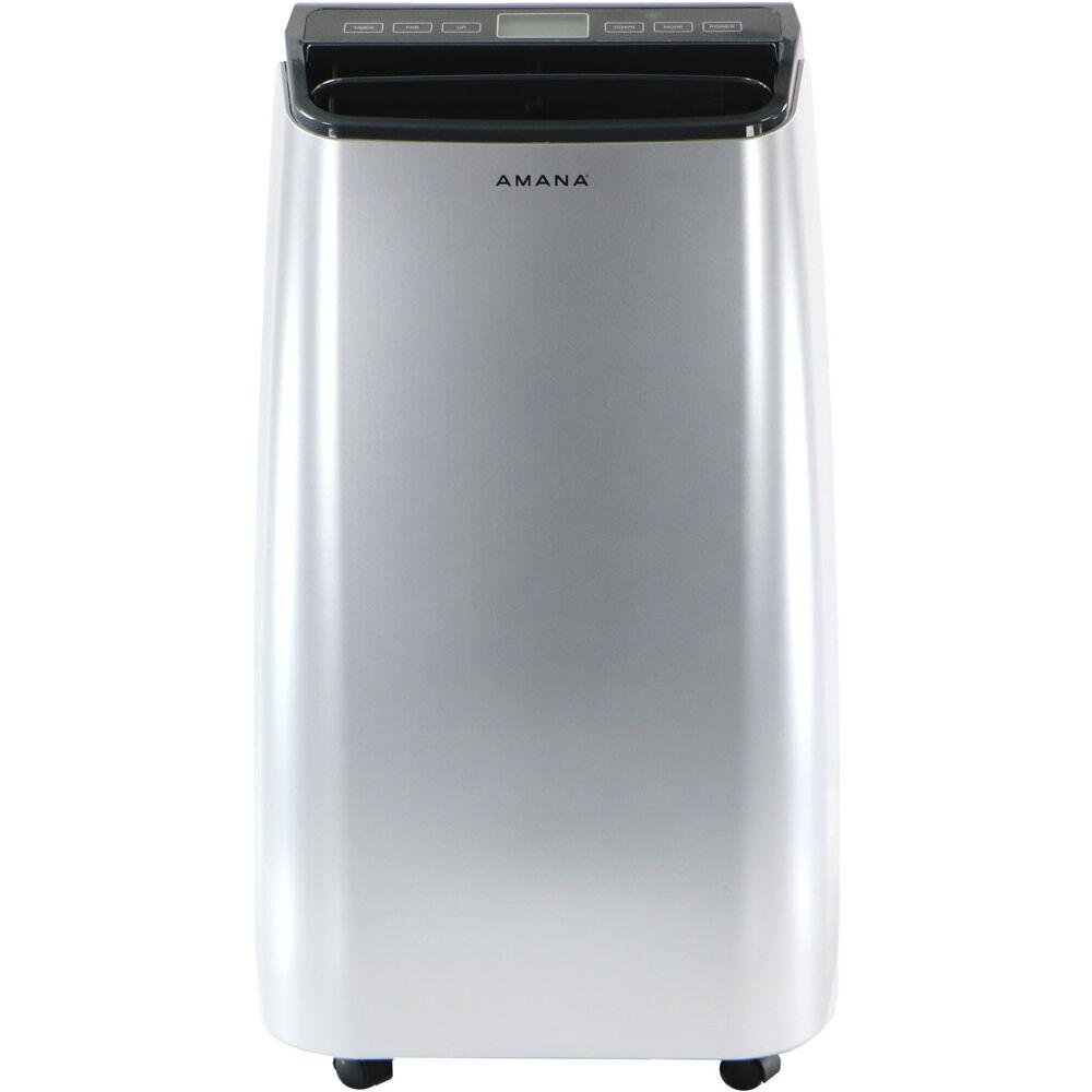 Amana 10000 BTU 6500 BTU (DOE) Portable Air Conditioner with Remote Control in Silver/Gray for Rooms up to 250 Sq. Ft.