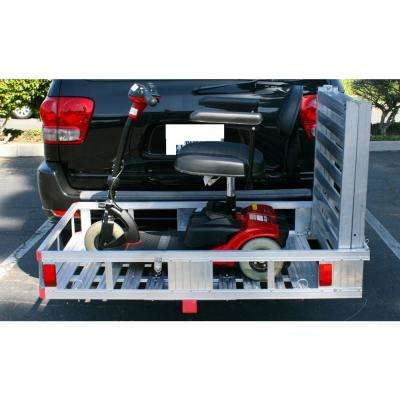52-1/2 in. x 29 in. 500 lbs. Capacity Aluminum Cargo Carrier with 60 in. Folding Ramp