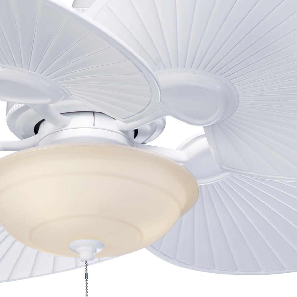 Hampton Bay - Havana 48 in. Indoor/Outdoor Matte White Ceiling Fan with Light Kit
