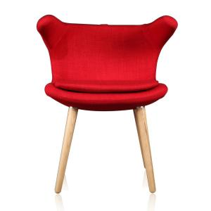 Marvelous Red Clipper Chair Pabps2019 Chair Design Images Pabps2019Com