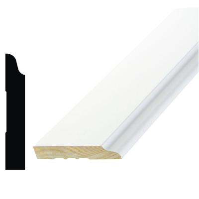WM 662 9/16 in. x 3-1/2 in. x 96 in. Wood Primed Finger-Jointed Base Moulding