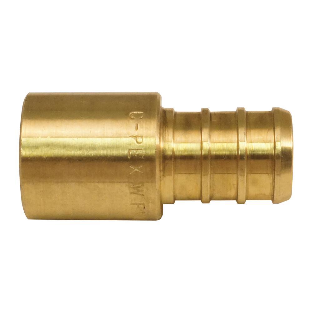 1/2 in. Brass PEX Barb x Male Copper Sweat Adapter (10-Pack)