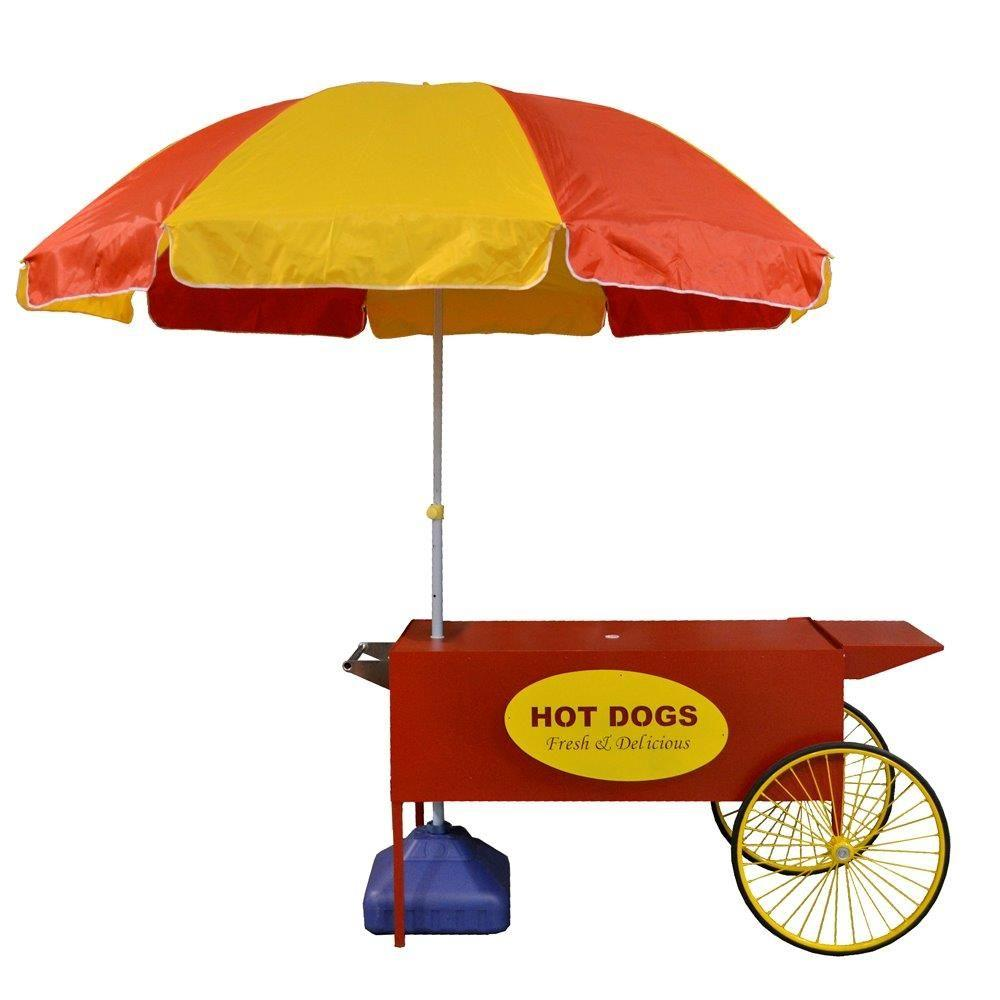 Paragon Large Hot Dog Cart And Umbrella Stand 3090080 The Home Depot