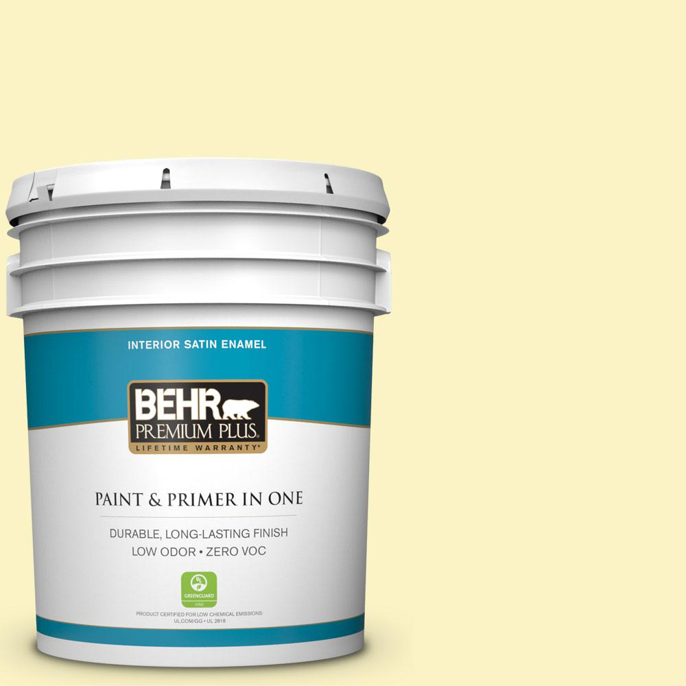 BEHR Premium Plus 5 gal. #P310-2 Natural Light Satin Enamel Zero VOC Interior Paint and Primer in One