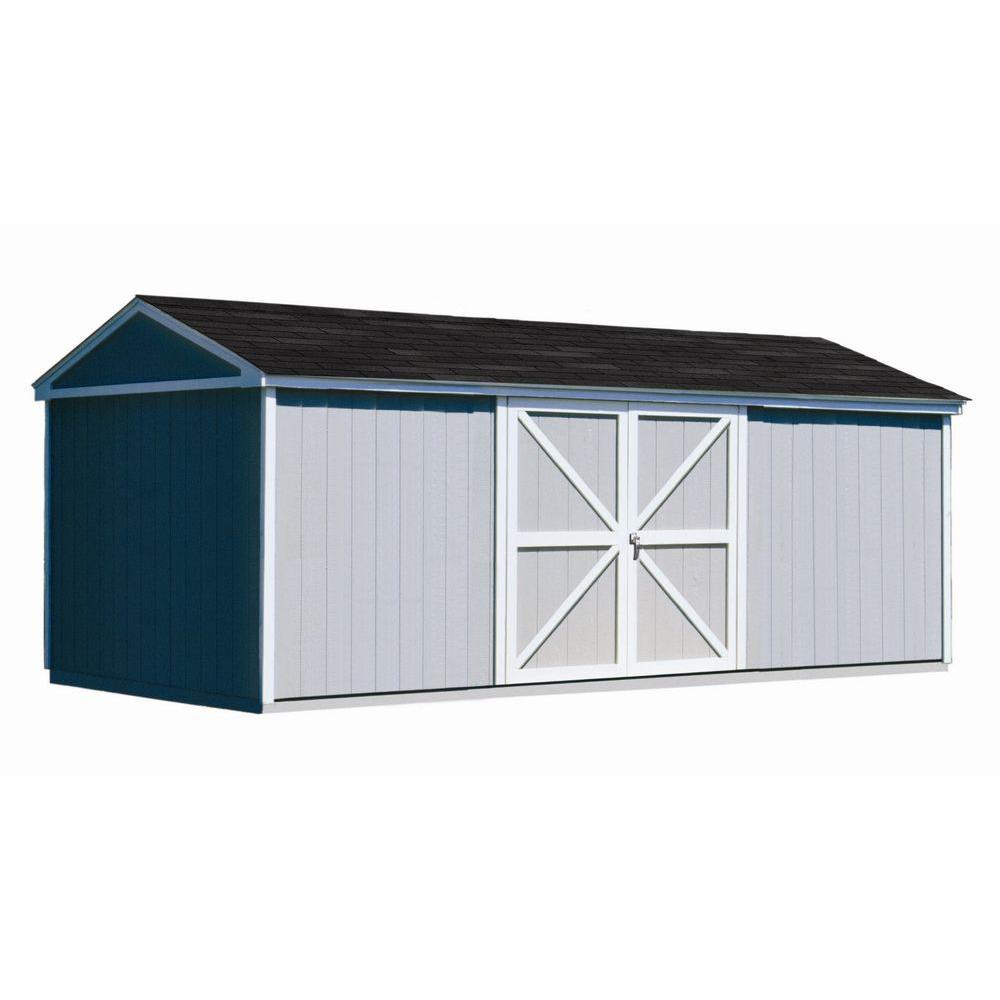 Somerset 10 ft. x 18 ft. Wood Storage Building Kit