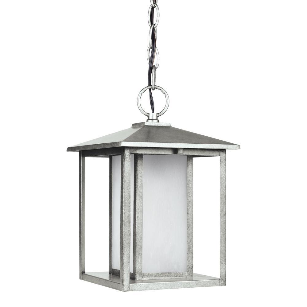 Hunnington Weathered Pewter Integrated LED Hanging Pendant
