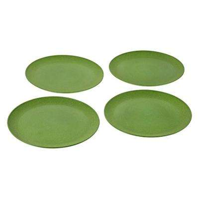 EVO Sustainable Goods 10 in. Green Eco-Friendly Wood-Plastic Composite Plate (Set of 4)