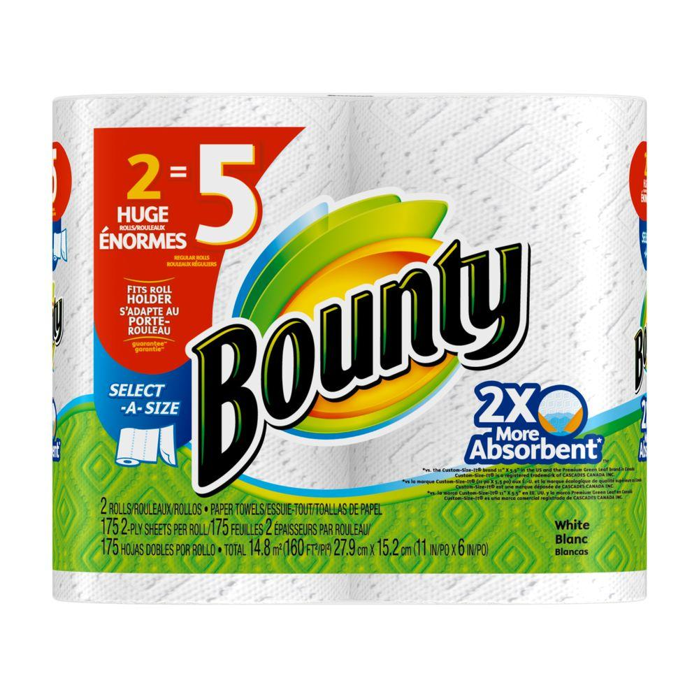 Bounty Paper Towels Fall Prints: Bounty Select-A-Size White Paper Towels (2 Rolls