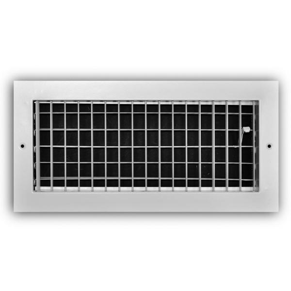 14 in. x 6 in. 1-Way Aluminum Adjustable Wall/Ceiling Register in White