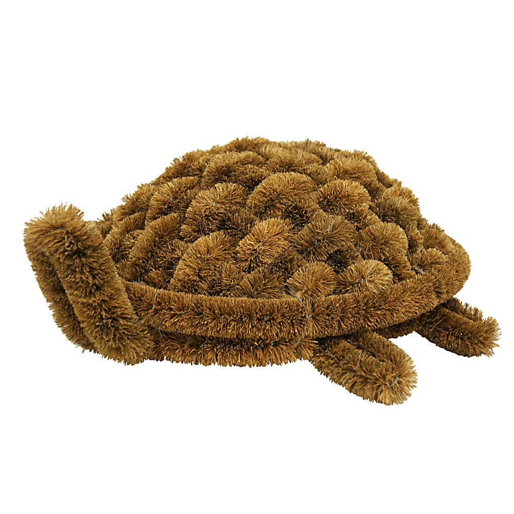Turtle Coir Boot Scraper Doormat 6 in. H x 12 in. W x 15 in. L Door Mat