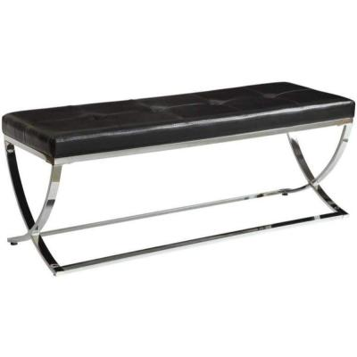 Stylishly Compelling Black Bench 48 in. L x 16 in. W x 18.5 in. H