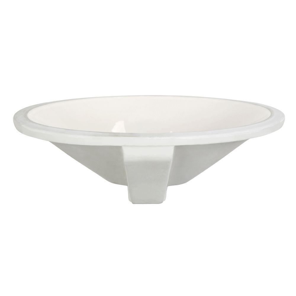 DECOLAV Classically Redefined Oval Undermount Bathroom Sink in Biscuit