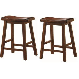 Cool Wooden 24 In Counter Stools Chestnut Set Of 2 Pdpeps Interior Chair Design Pdpepsorg