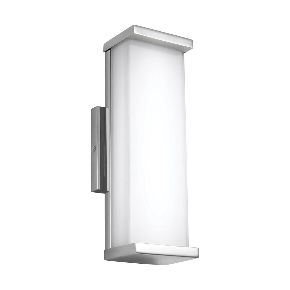 Altron 1-Light Polished Stainless Steel Outdoor Integrated LED Wall Mount Sconce