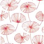 Abraham Paradise Pink Fronds Wallpaper