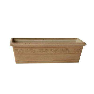 Rose 23 in. x 8 in. x 7 in. Beige PSW Window Box