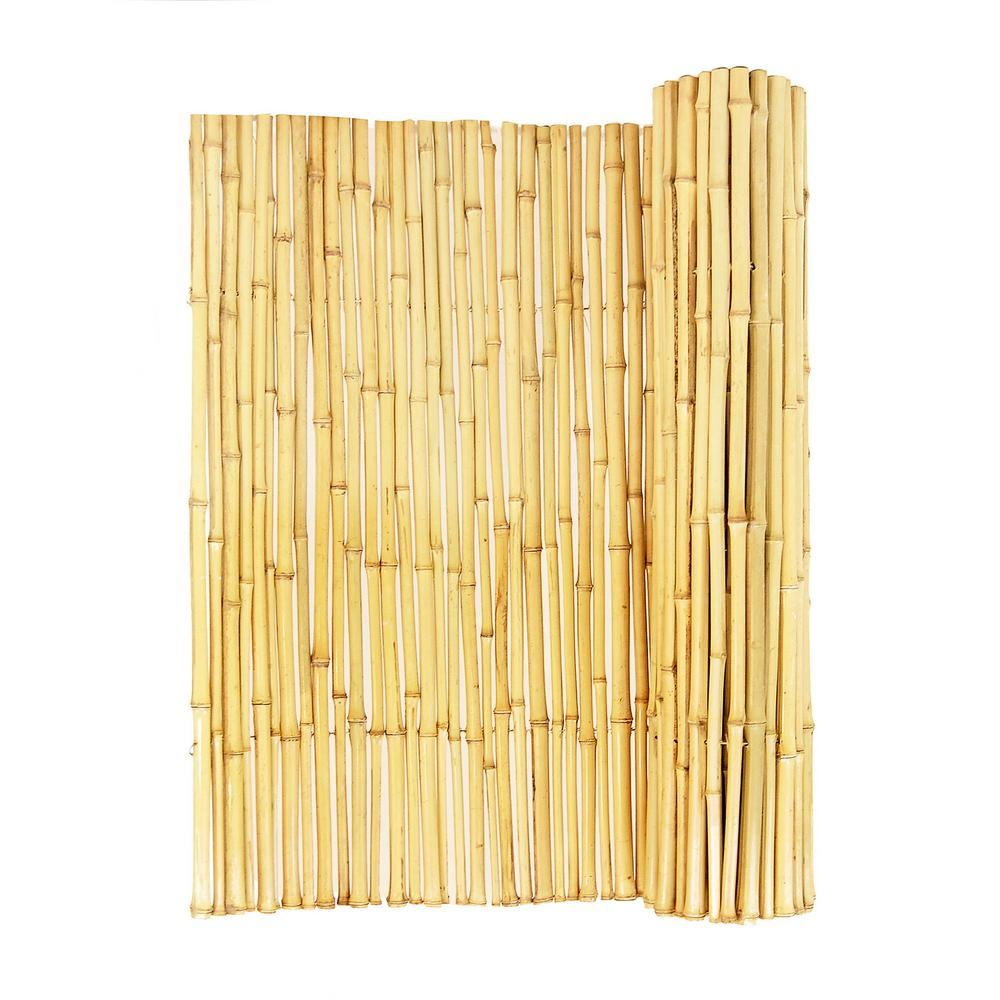 3/4 in. D x 3ft. H. x 8 ft. W Natural Bamboo Fence