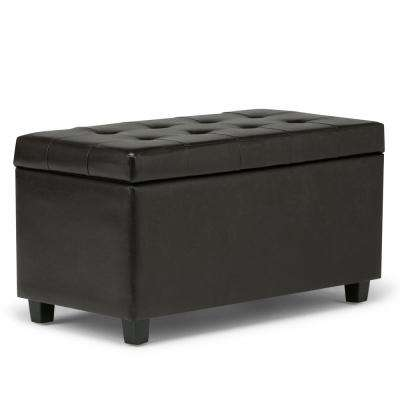Cosmopolitan Tanners Brown Medium Storage Ottoman Bench