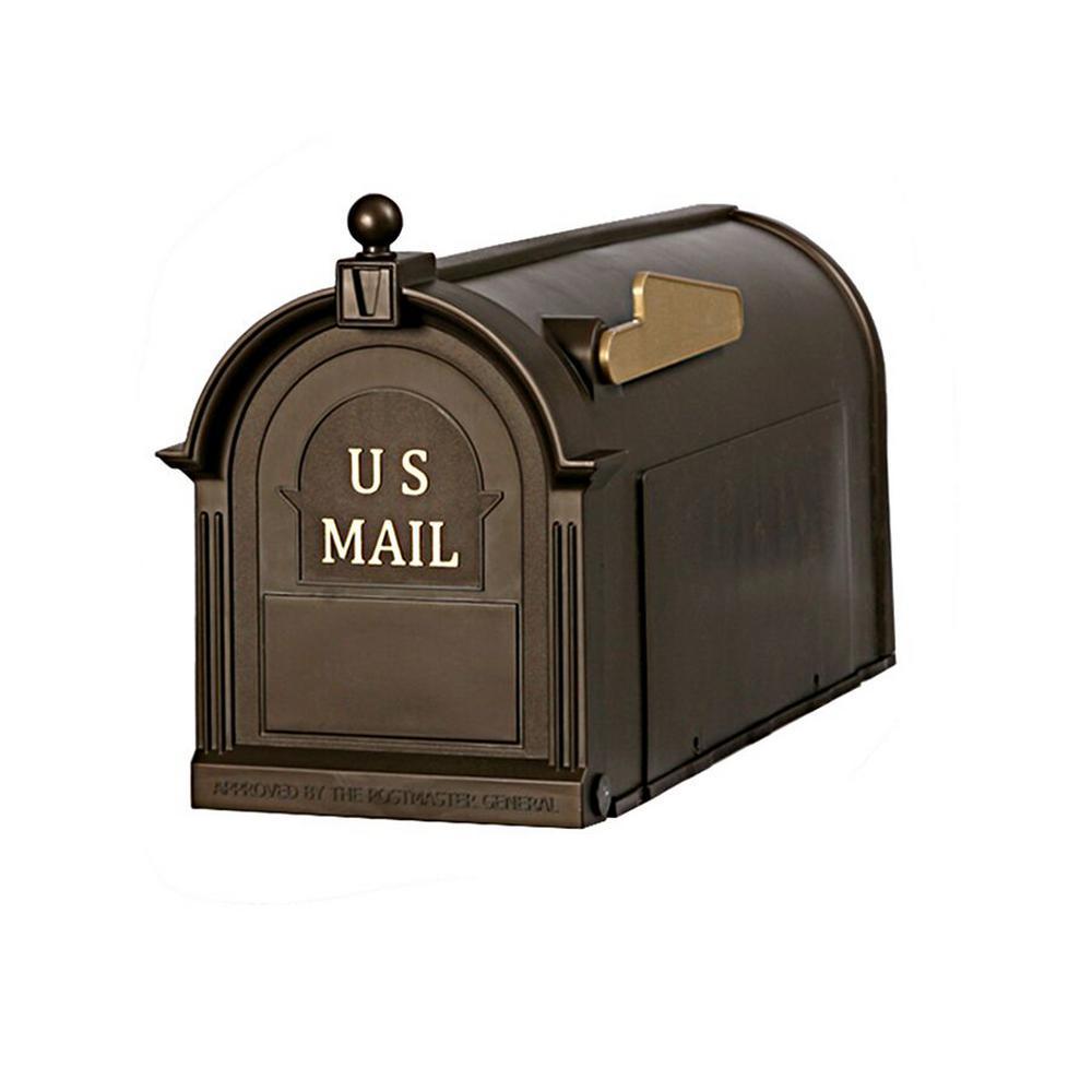 Ambrose Bronze Post Mount Mailbox