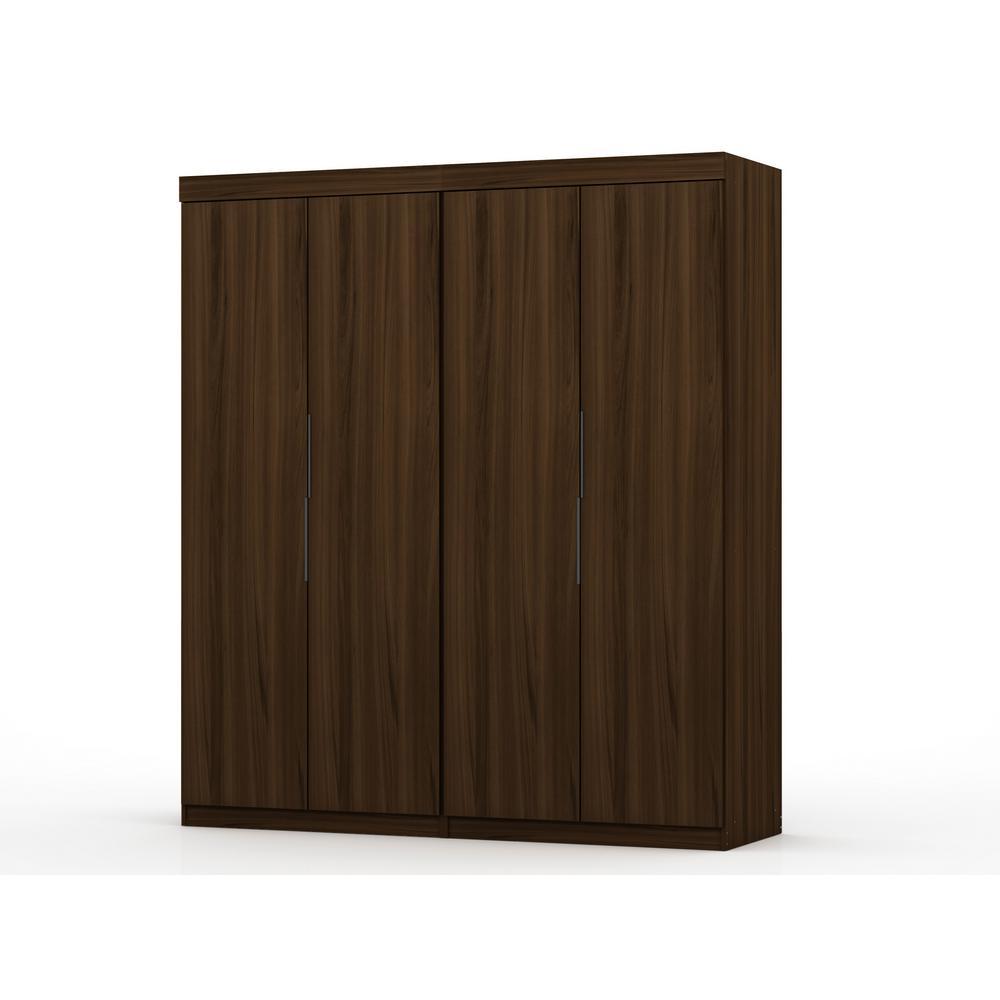 Luxor Ramsey 2.0 Brown Wardrobe Closet (Set of 2) 121HD2