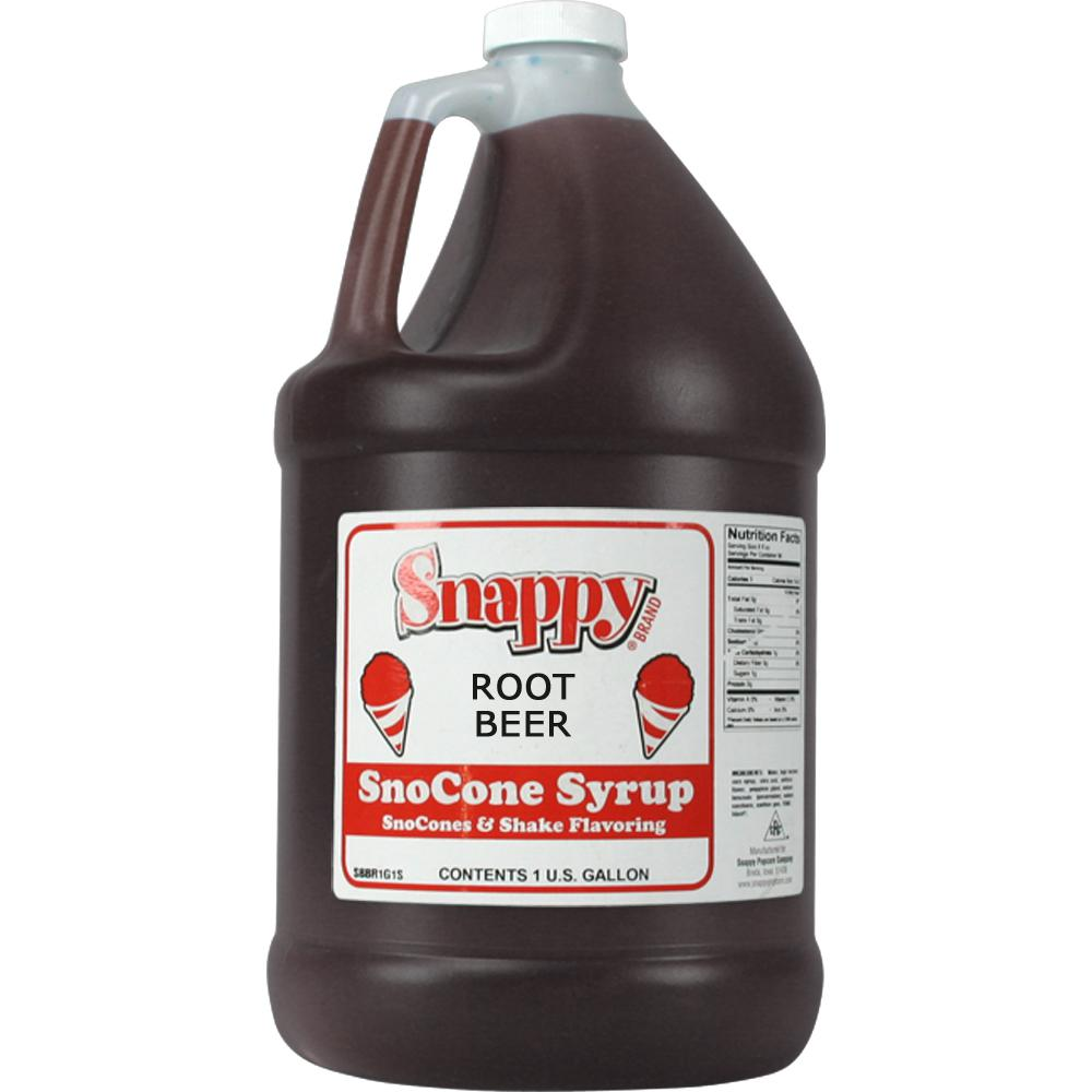 Snappy Snow Cone Syrup. 1 Gal. Root Beer
