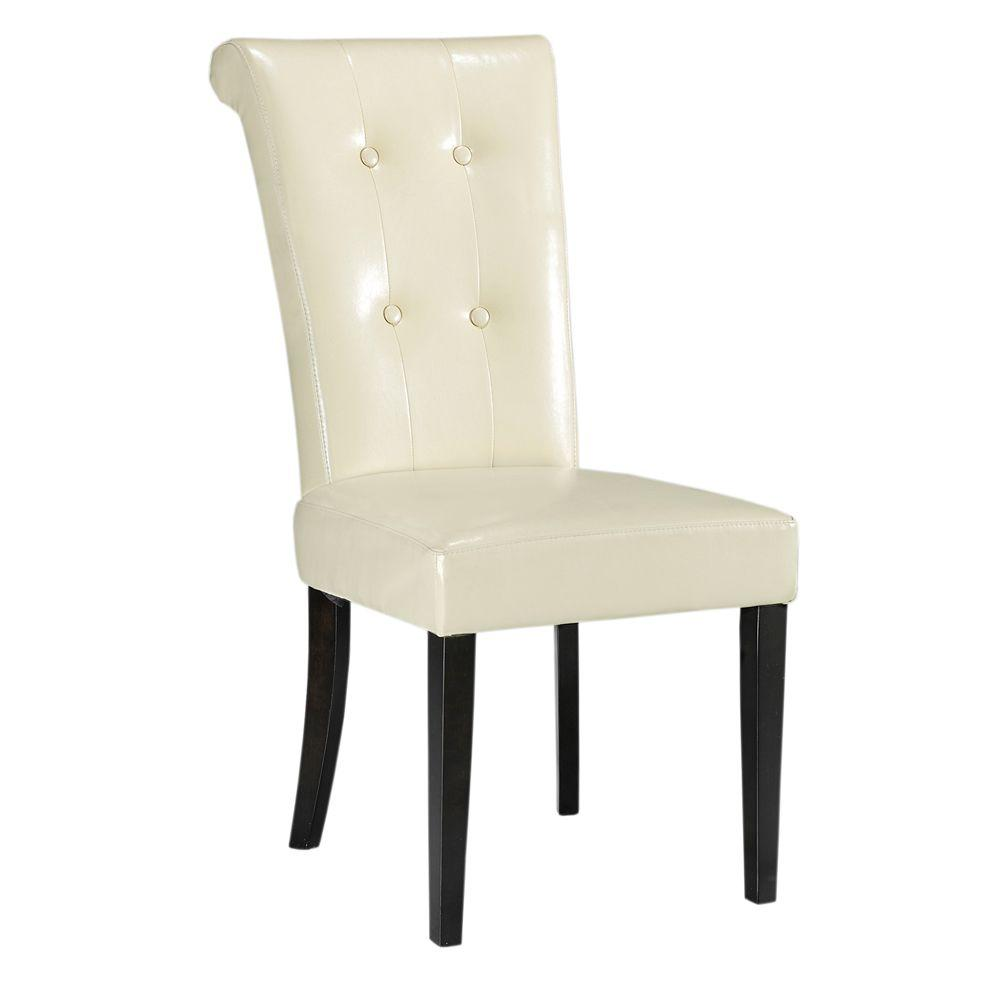 Home Decorators Collection Taylor Cream Bonded Leather Dining Chair