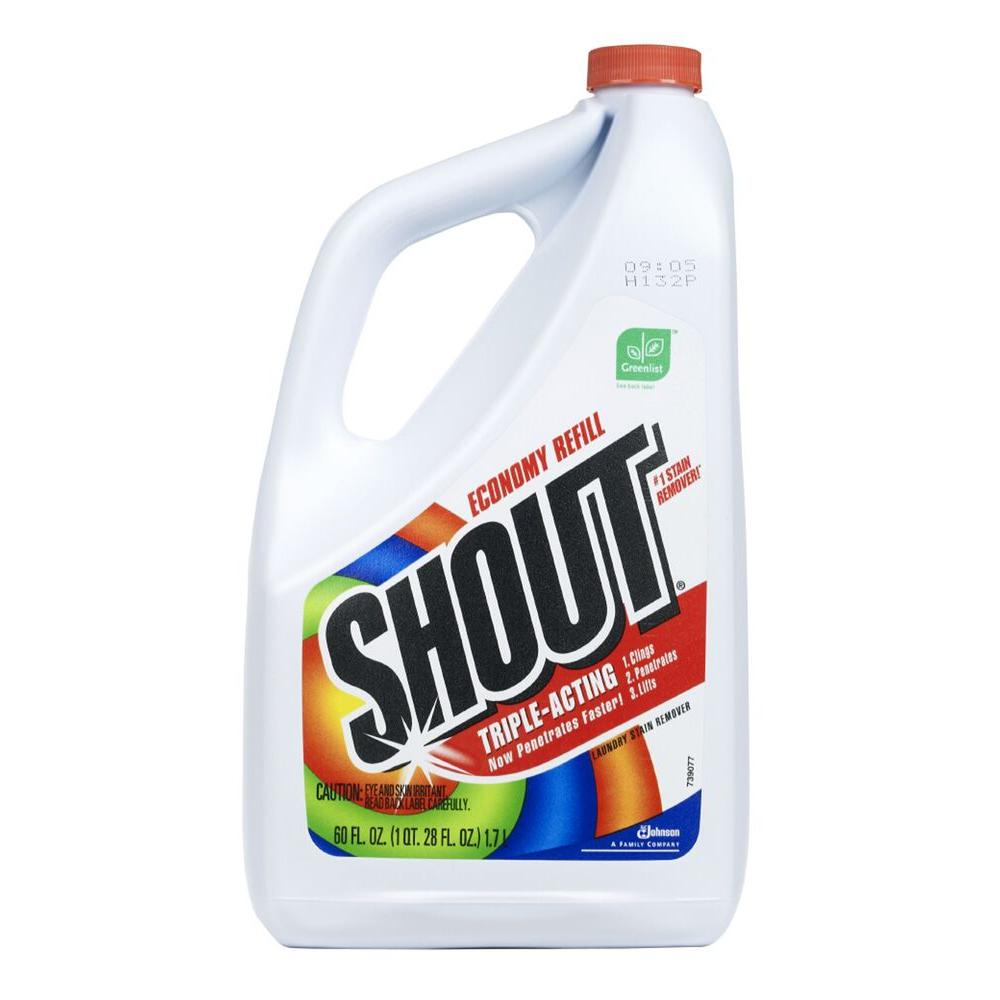 Shout 60 oz. Triple-Acting Laundry Stain Remover Refill (6-Pack)