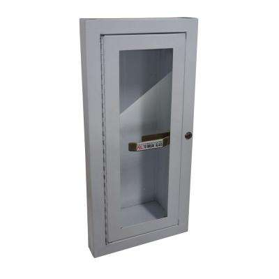 20.75 in. H x 11.75 in. W x 5.13 in. D 5 lbs. Steel Semi-Recessed Fire Extinguisher Cabinet in White