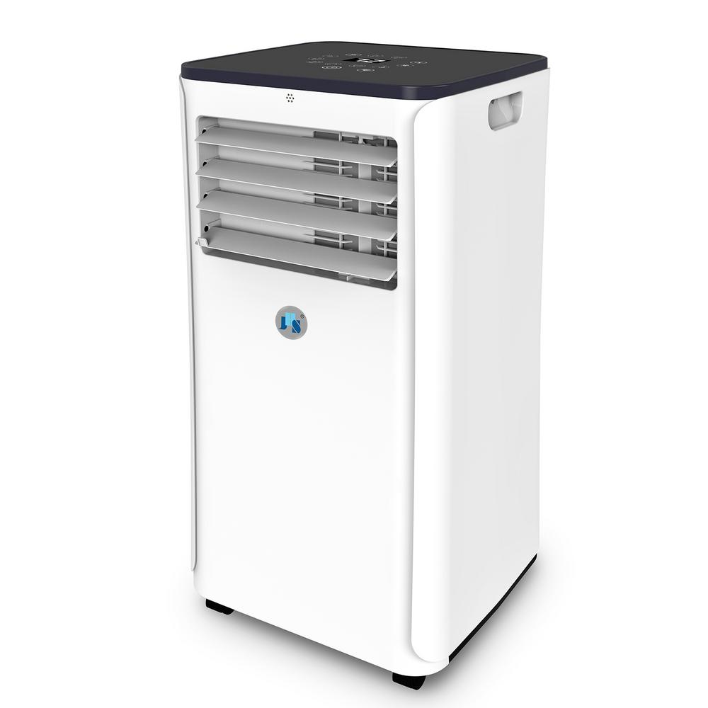 JHS 10,000 BTU Portable Air Conditioner with Dehumidifier, Remote Wi-Fi in White